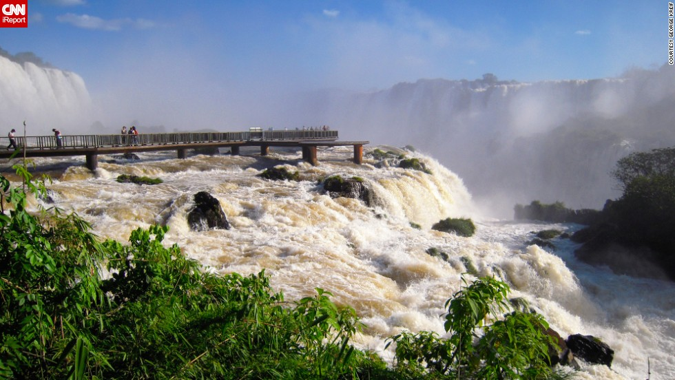 "Although the United States established the first national park in 1872, countries throughout the world have designated areas to protect and preserve. iReporters shared photos of the best national parks they've visited across the globe. The <a href=""http://ireport.cnn.com/docs/DOC-1127448"">Iguazu Falls </a>of Argentina's <a href=""http://www.iguazuturismo.gov.ar/index_i.php"" target=""_blank"">Iguazu National Park </a>are surrounded by subtropical jungle. Across the Iguazu River, you'll find the Brazilian counterpart of this national park."