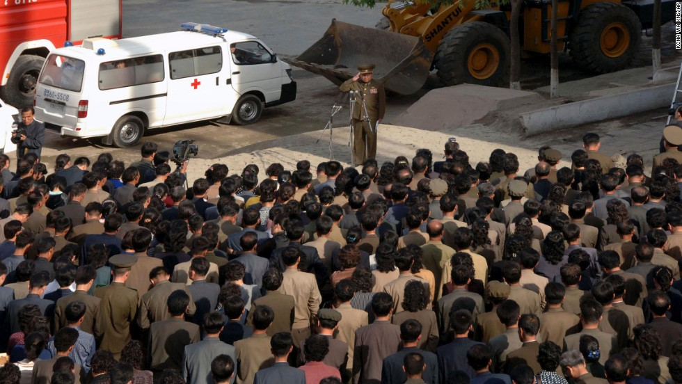A South Korean government official said the building had 23 floors and estimated that as many as 92 families might have been living inside. The South Korean government closely monitors events in North Korea.