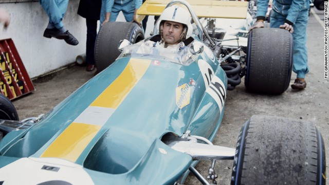 Jack Brabham in a Brabham BT33 in 1970, his final year in F1.