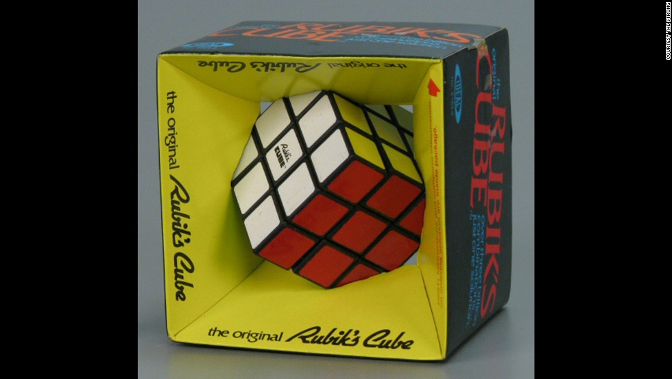 The beloved Rubik's cube was invented in 1974 by Hungarian professor Erno Rubik. It would take a few years for it to land in American toy stores and become one of the most iconic toys of the 1980s.