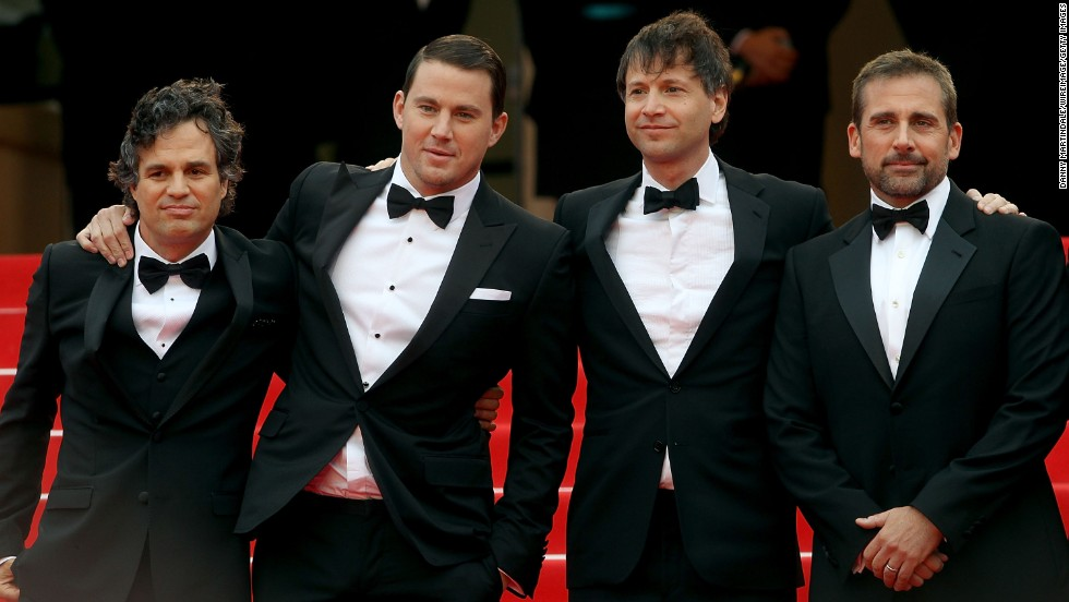 "From left, actor Mark Ruffalo, actor Channing Tatum, ""Foxcatcher"" director Bennett Miller and actor Steve Carell on May 19"