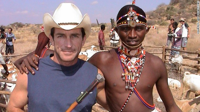 While on location, Probst met local warriors in Kenya