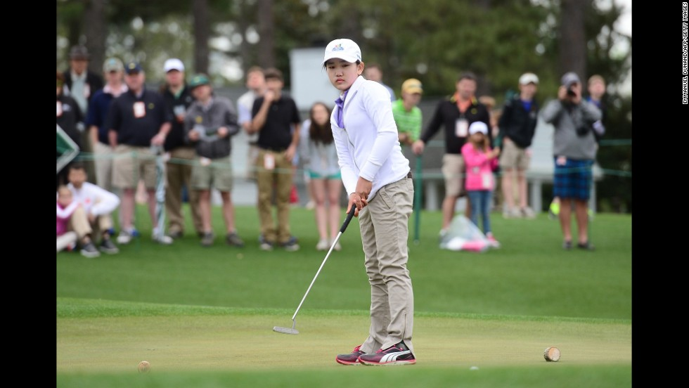 Lucy Li, seen here in April, is now the youngest ever to qualify for the U.S. Women's Open. The 11-year-old Californian will compete in the major tournament in June.