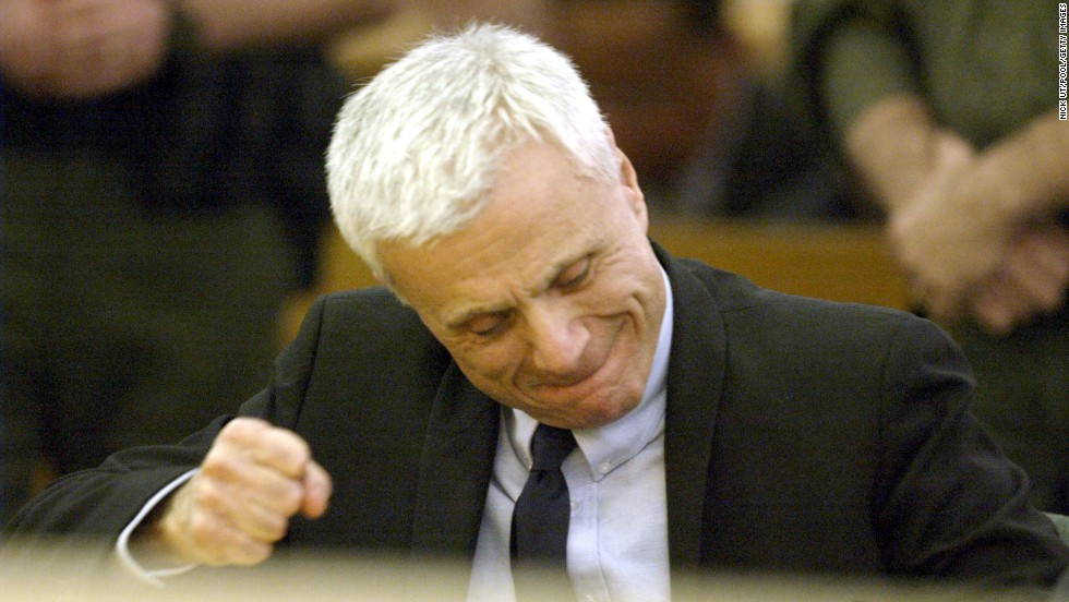 Actor Robert Blake reacts after being found not guilty of murdering his wife, Bonny Lee Bakley, in 2005 in Van Nuys, California. Bakley was shot in the head while sitting in the couple's vehicle.