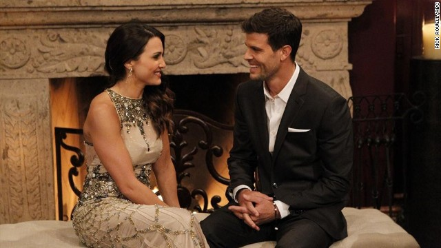 "Andi Dorfman with Eric Hill on the season premiere of ""The Bachelorette."""
