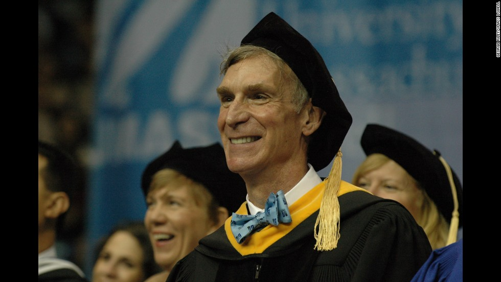 """The """"Science Guy"""" delivered a commencement address at University of Massachusetts Lowell on May 17."""