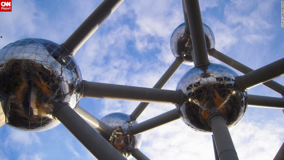 "The Atomium in Brussels, Belgium, conjured the future ""with a world then obsessed with the atom and the specter of an atomic future,"" says California photographer <a href=""http://ireport.cnn.com/docs/DOC-1128013"">George Kreif</a>. The structure was built for the 1958 World's Fair."