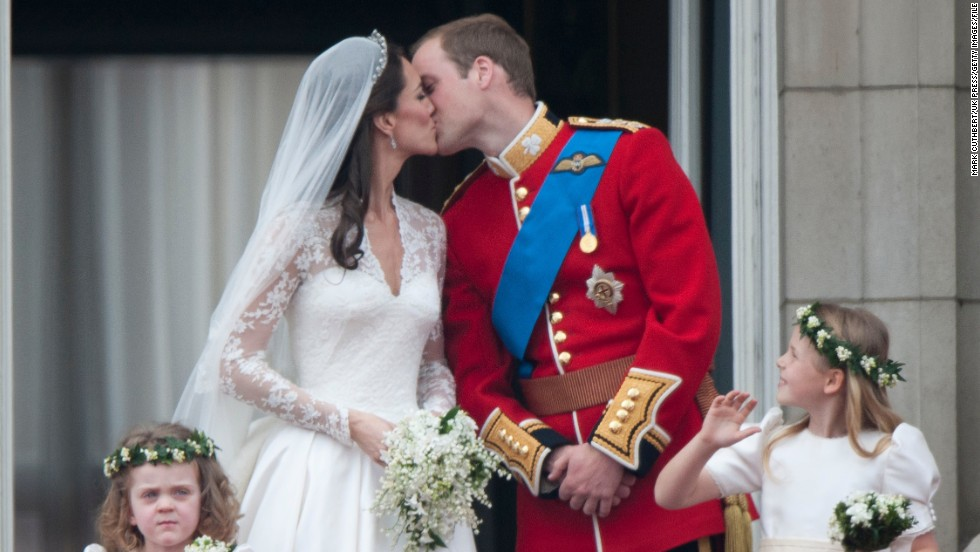 Let's just say it doesn't get much bigger than when Catherine, Duchess of Cambridge, wed Britain's Prince William in 2011. The world tuned in to the ceremony and that kiss on the balcony at Buckingham Palace with bridesmaids Margarita Armstrong-Jones, right, and Grace van Cutsem.