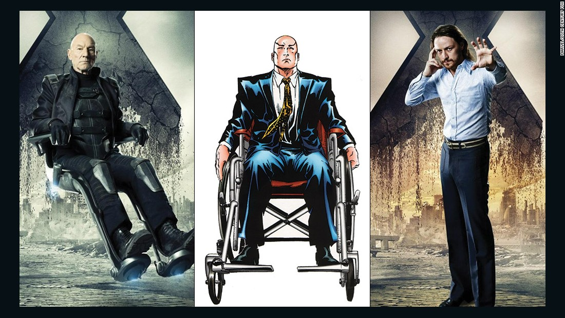 The X-Men's leader, Professor Charles Xavier, has been played by Patrick Stewart and James McAvoy (his younger self). For the first time, the two Professors X come face to face.