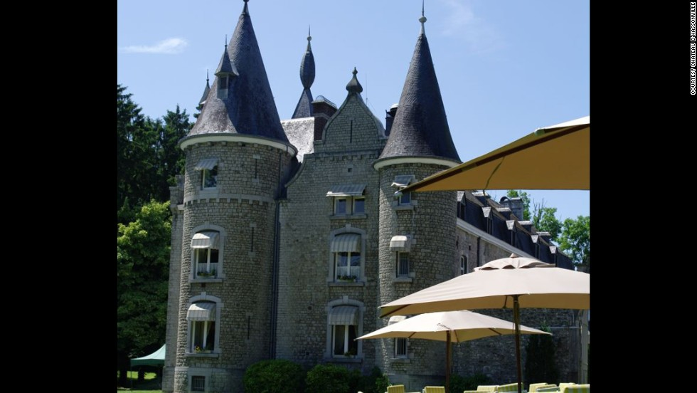 A multi-turreted 17th-century château in the densely forested Ardennes, Belgium's Château d'Hassonville was once the hunting grounds of France's King Louis XIV.