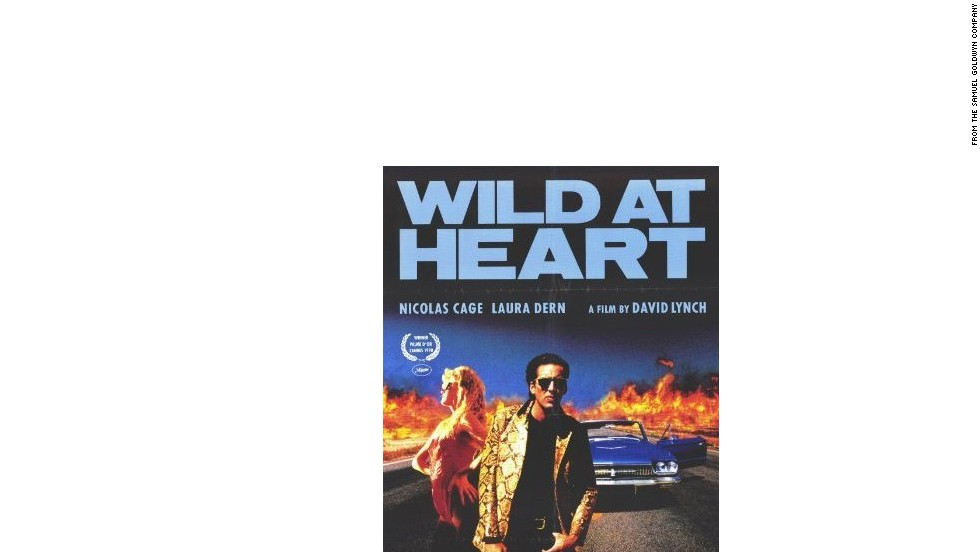 "Nicholas Cage as Sailor Ripley alongside Lula Pace Fortune, in ""Wild at Heart"" which sees the pair from Cape Fear go on the run from Lula's character's domineering mother."