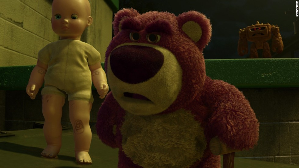 "He may look cuddly, but that's actually what made Lotso the Bear from the Disney/Pixar release ""Toy Story 3"" so terrifying. He was supposed to do ""Lots-O-Huggin"" in the 2010 release, but instead ruled over his fellow toys with a merciless, fuzzy fist."