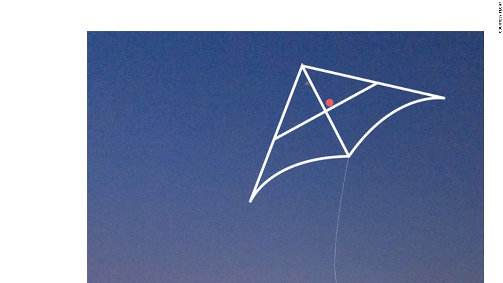 Air quality monitoring kite, part of crowd-funded FLOAT campaign in Beijing
