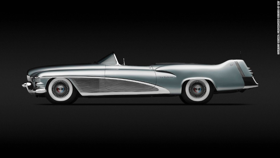 "This 1951 GM LeSabre XP-8 was the personal car of legendary GM designer Harley Earl. Innovations included a ""rain sensor, which could activate the disappearing power top,"" according to the museum."