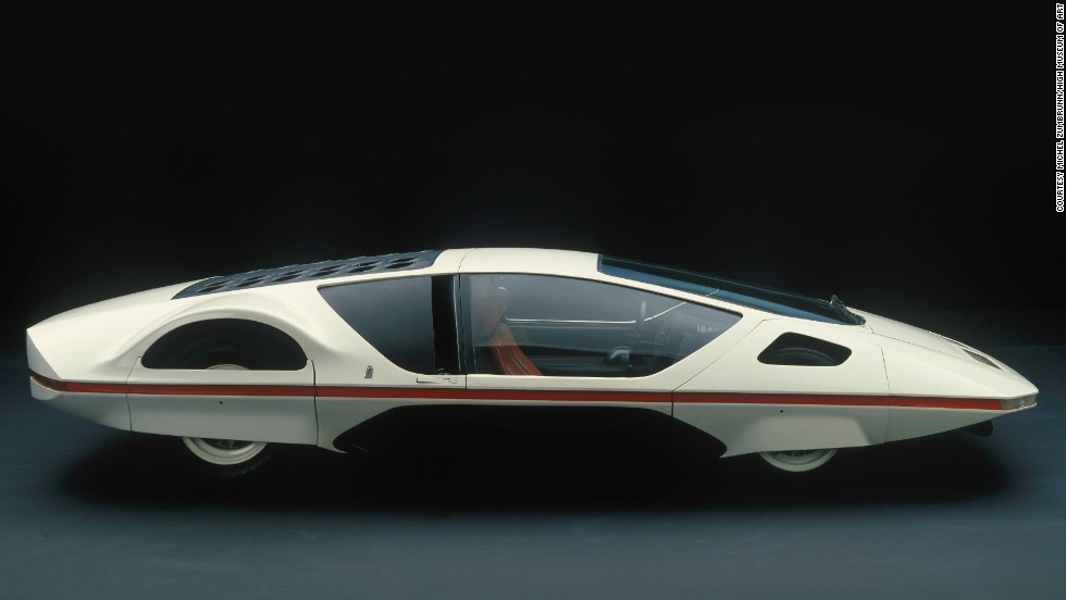 "In the late 1960s, designer Carrozzeria Pininfarina joined the industry trend to create the ""ultimate wedge."" His creation measures 37 inches high."