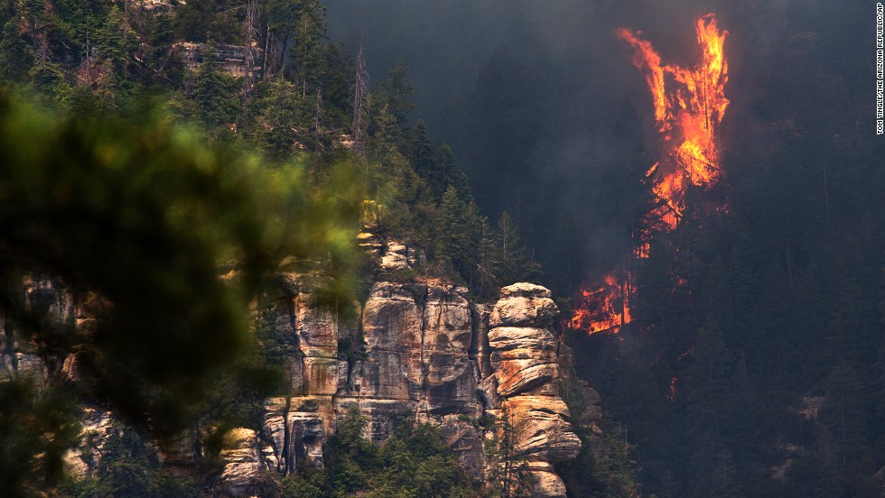 The fire began on Tuesday, May 20, and was likely caused by a person, according to the U.S. Forest Service.