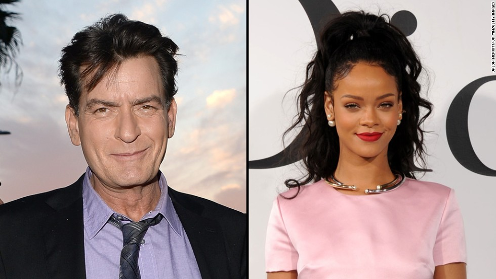 "Charlie Sheen is also unhappy with Rihanna. Sheen tweeted that the singer declined to meet him and his gal pal when they all landed at the same restaurant in May. The actor went on <a href=""http://www.twitlonger.com/show/nchip4"" target=""_blank"">a bit of a Twitter rant</a>, saying, ""it was a pleasure NOT meeting you."" We think Rihanna might have responded <a href=""https://twitter.com/rihanna/status/469535330014490624"" target=""_blank"">when she tweeted</a>, ""If that old queen don't get ha diapers out of a bunch..."""