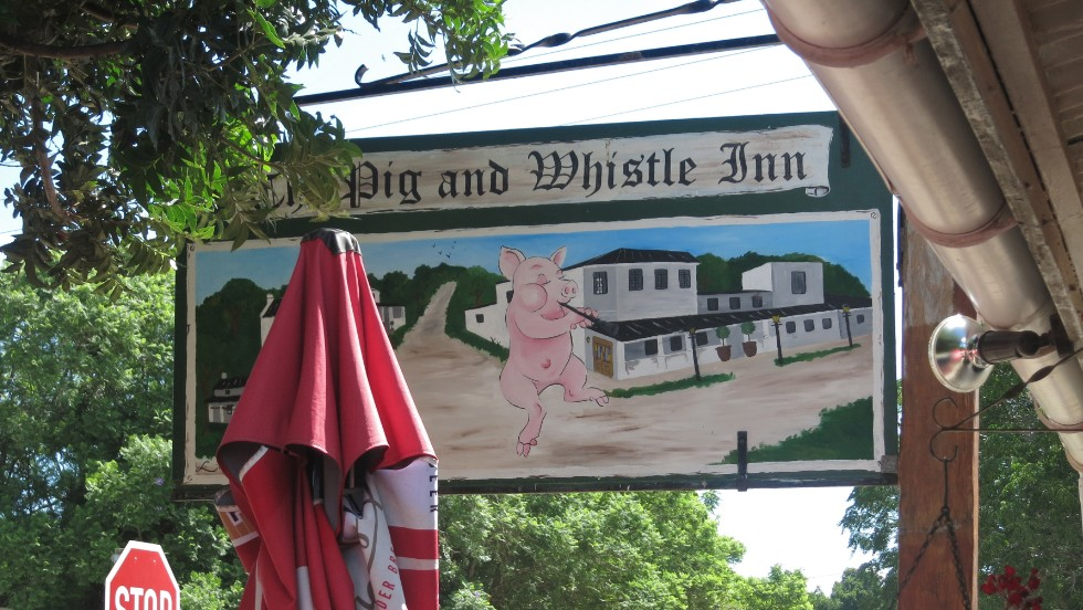Built in 1832, the Pig and Whistle is the focal point of the town's history and also a two-star motel.