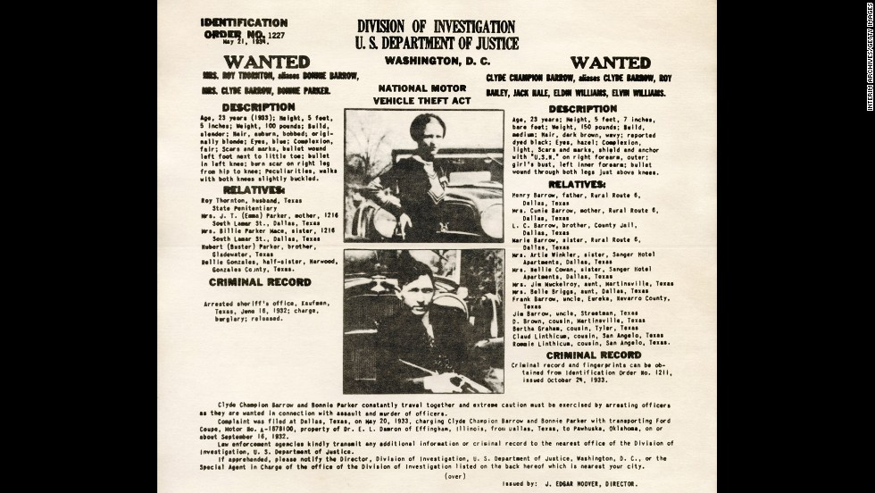"An FBI wanted poster warns authorities to use ""extreme caution,"" as the duo were known to kill anyone who got in their way."