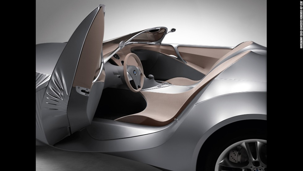 """This BMW GINA -- designed by Christopher Bangle features an exterior made from """"flexible tensile fabric stretched over a moveable body frame of aluminum and flexible carbon fiber,"""" the museum said. """"The fabric comprised two layers: an under layer of wire mesh and an outer layer of polyurethane-coated Lycra that was resistant to water, heat, and cold."""""""