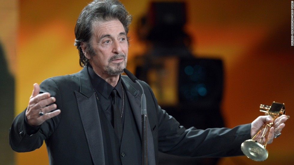 It's hard to believe that Michael Corleone is in his 70s. Al Pacino is 74.