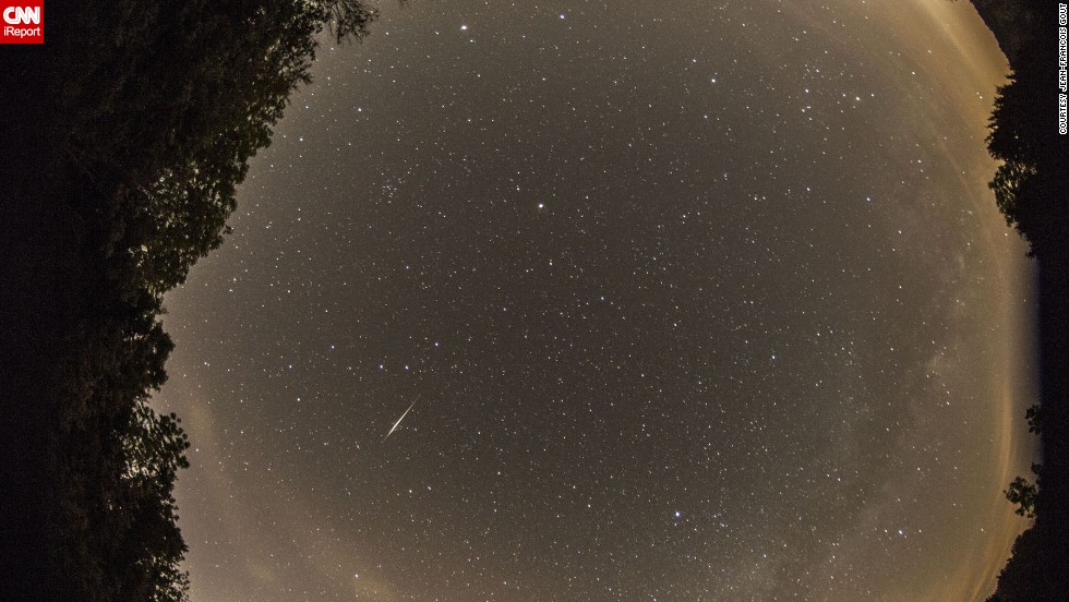 "<a href=""http://ireport.cnn.com/docs/DOC-1136494"">Jean-Francois Gout</a> had only one word to describe the Camelopardalids meteor shower: ""Disappointing!"" He said he did manage to photograph a few meteors from Lake Monroe in Indiana."