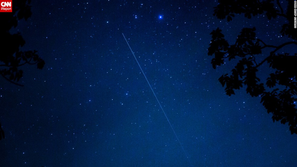 "<a href=""http://ireport.cnn.com/docs/DOC-1136589"">Jason Walle </a>was photographing the meteor shower in Cashiers, North Carolina, and says it was a bust in terms of the number of sightings. ""Despite that, it was pretty amazing to see it since it was the first shower for this comet,"" he said."
