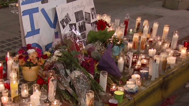 Spontaneous vigils for shooting victims