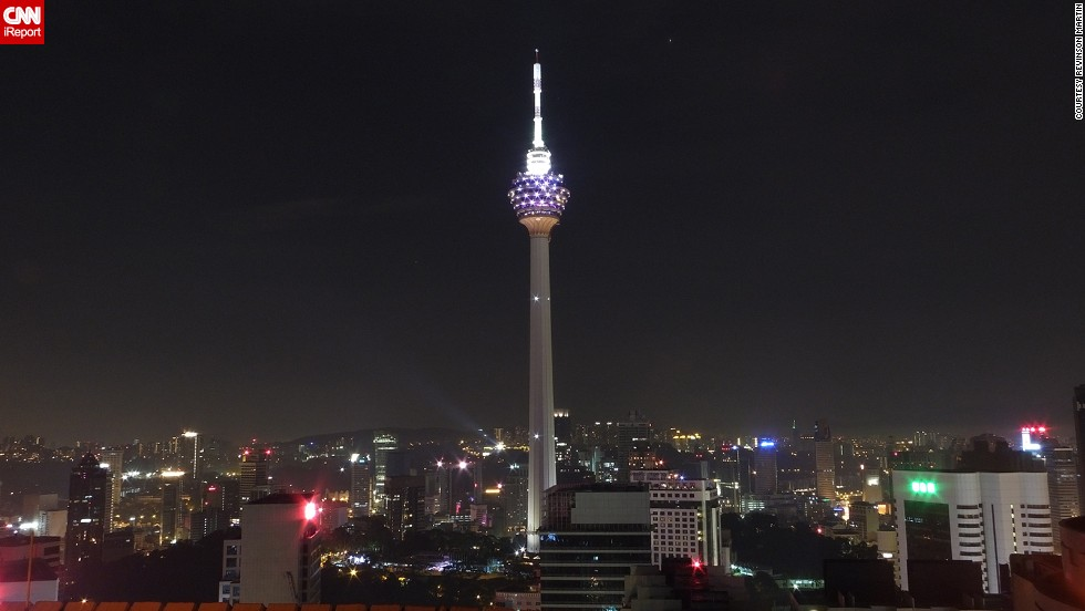 "Revinson Martin was in Kuala Lumpur, Malaysia, where he photographed the <a href=""http://ireport.cnn.com/docs/DOC-1136478"">Kuala Lumpur Tower</a>. Also known as the KL Tower, it was built in 1995 and is used for communication purposes. The tower also features a large antenna on top."
