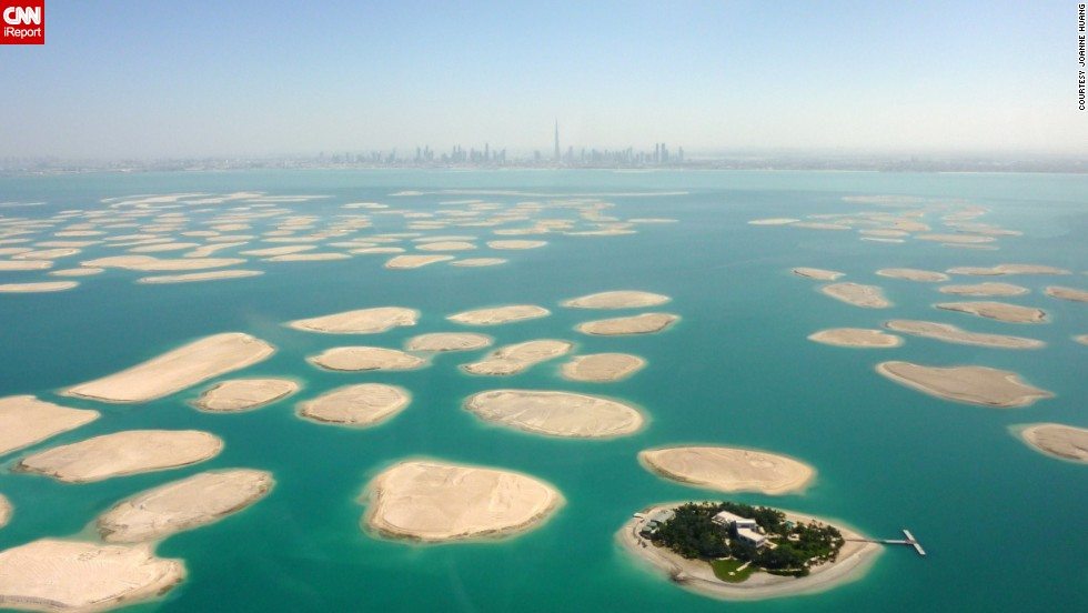"Not really a building, but still man-made, <a href=""http://ireport.cnn.com/docs/DOC-1129273"">The World</a> is an artificial archipelago in Dubai, United Arab Emirates. The <a href=""http://www.privateislandsonline.com/islands/the-world-islands-dubai"" target=""_blank"">300 islands</a> form a world map that can be seen from an aerial view."