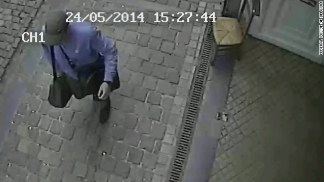 Photos released by the Federal Police of Belgium pertaining to the Brussels shooting near a Jewish museum.