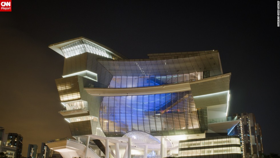 """Sean Lowcay describes <a href=""""http://ireport.cnn.com/docs/DOC-1128656"""">the Star</a> Performing Arts Centre in Singapore, as an architectural explosion of shapes and ideas. The 15-story structure also functions as a civic and cultural center. At the top of the building, there are 5,000 seats designated for theater performances and church events."""