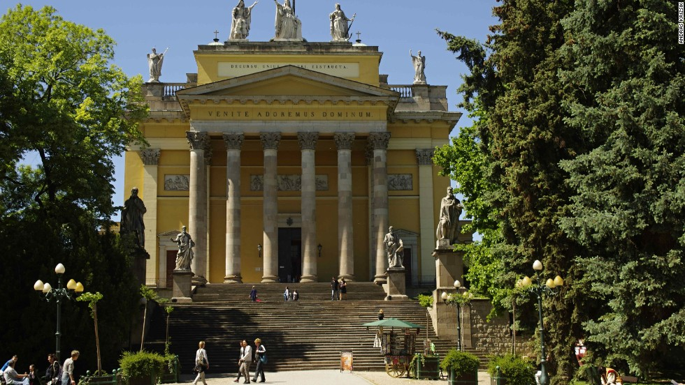 Eger Basilica, built by Jozsef Hild in the 1830s, is the second largest church in Hungary.