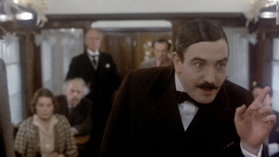 "Albert Finney played Hercule Poirot, Agatha Christie's famed detective, in an all-star version of ""Murder on the Orient Express."" The film was directed by Sidney Lumet."