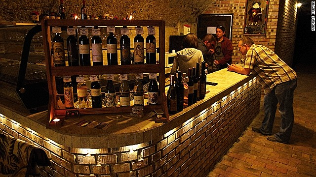 Eger's wine cellars: Thirsty work