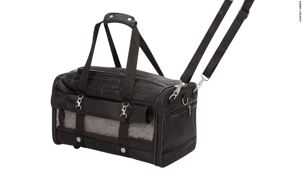 The Ultimate Bag on Wheels pet carrier fits animals up to 16 pounds.