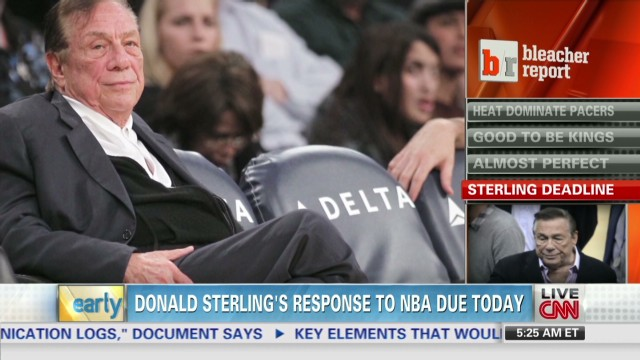 Donald Sterling's response to NBA due