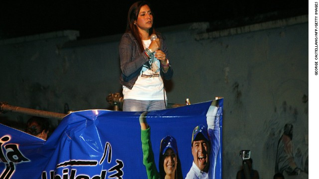 Patricia Gutierrez de Ceballos, the wife of jailed politician Daniel Ceballos, said that each ballot cast in her favor represented a sentence of justice and freedom and a blow against what she called the country's dictatorship.