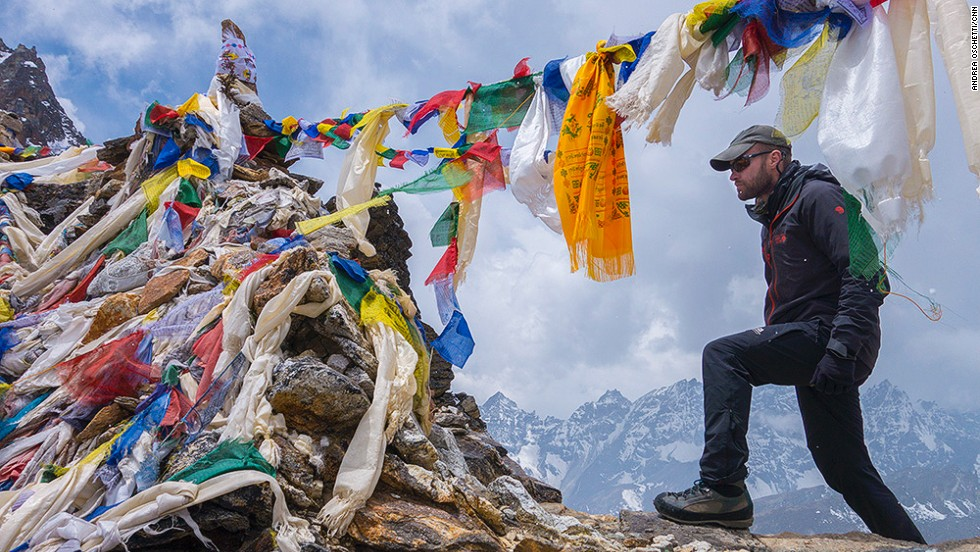 Ake Lindstrom, an adventure operator from Tanzania, was supposed to climb Mount Everest but, like many other international climbers, after the tragedy he left base camp to climb another mountain in the Khumbu before heading home.