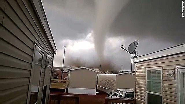 Close encounter with a massive tornado
