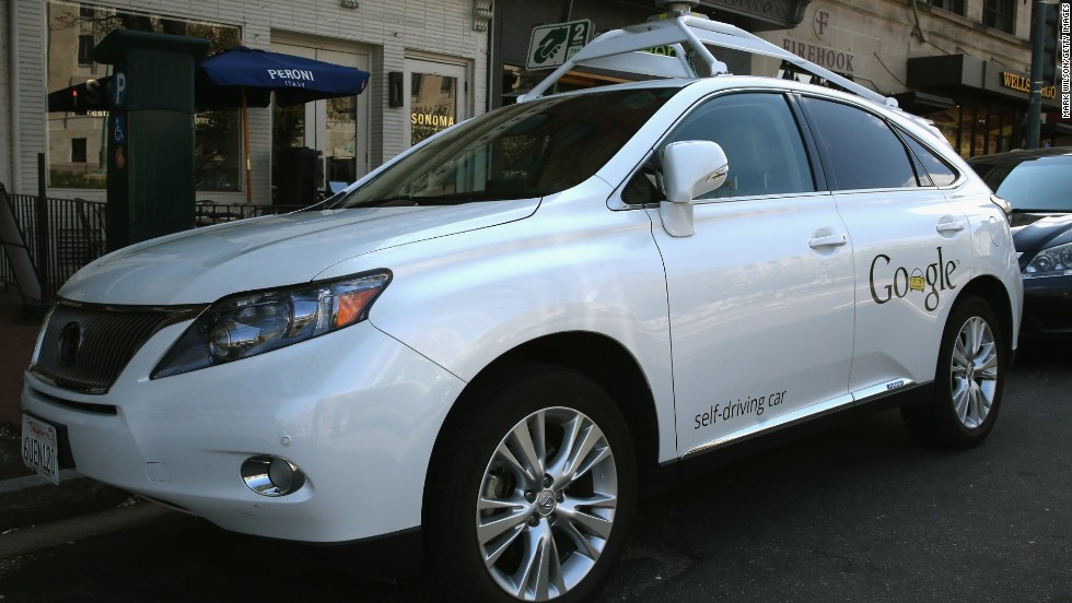 "<a href=""http://edition.cnn.com/2014/04/28/tech/innovation/google-self-driving-car/"">Google has logged over 300,000 miles testing driverless cars </a>around the United States. Pictured here is its Lexus RX 450H self-driving car parked on a street in Washington, D.C., in April 2014."