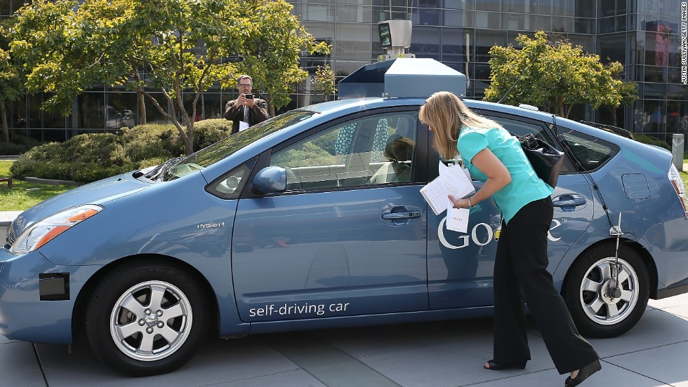 "<a href=""http://edition.cnn.com/2012/05/07/tech/nevada-driveless-car/"">An earlier version of a Google self-driving car</a> -- an adapted Toyota Prius hybrid -- was shown in 2012 at Google headquarters in Mountain View, California."