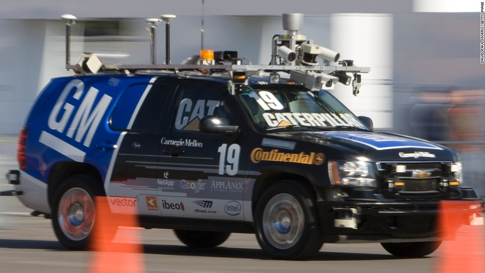 """The Boss,"" a driverless automobile, won the prestigious DARPA Urban Challenge, a competition by the U.S. Defense Department, in 2007."