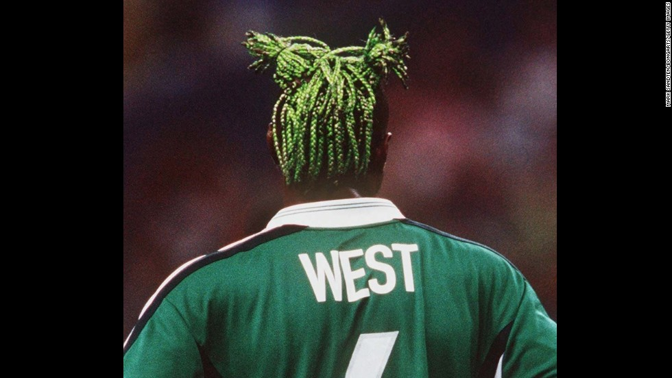 "Tales of Taribo West's dreadlocked ponytails reached the ears of eager fans in the build-up to France '98 and, when the Nigerian defender appeared for the ""Super Eagles,"" he didn't disappoint. West played for his country for eight years, appearing at two World Cups and also turning out for Italian giants Inter and AC Milan."