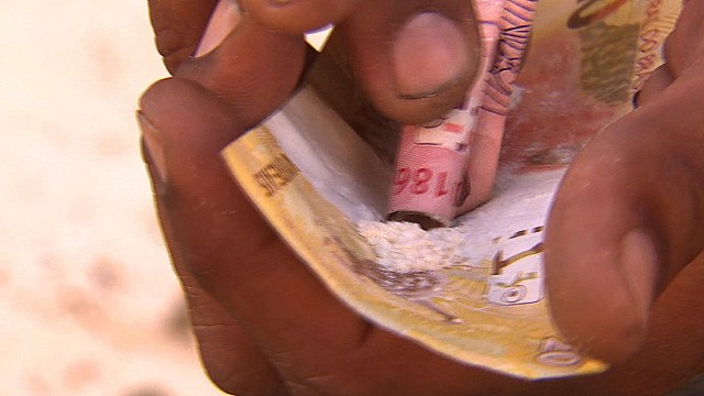 Drugs sold in broad daylight in Brazil