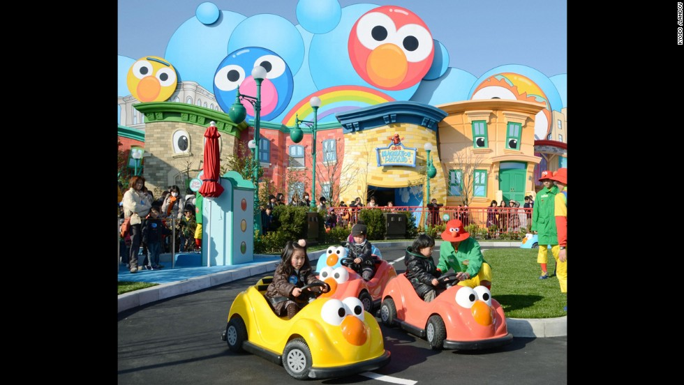 9. Universal Studios Japan in Osaka features Universal Wonderland, an amusement zone within the park.