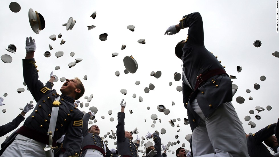 "MAY 29 - NEW YORK, U.S.: Cadets throw their hats in the air at the conclusion of their graduation ceremony at the U.S. Military Academy at West Point on May 28. President Barack Obama gave the commencement address and outlined a <a href=""http://cnn.com/2014/05/28/politics/obama-west-point-foreign-policy/index.html"">foreign policy vision.</a> More than 1,000 cadets were expected to graduate from the class of 2014 and will be commissioned as second lieutenants in the U.S. Army."