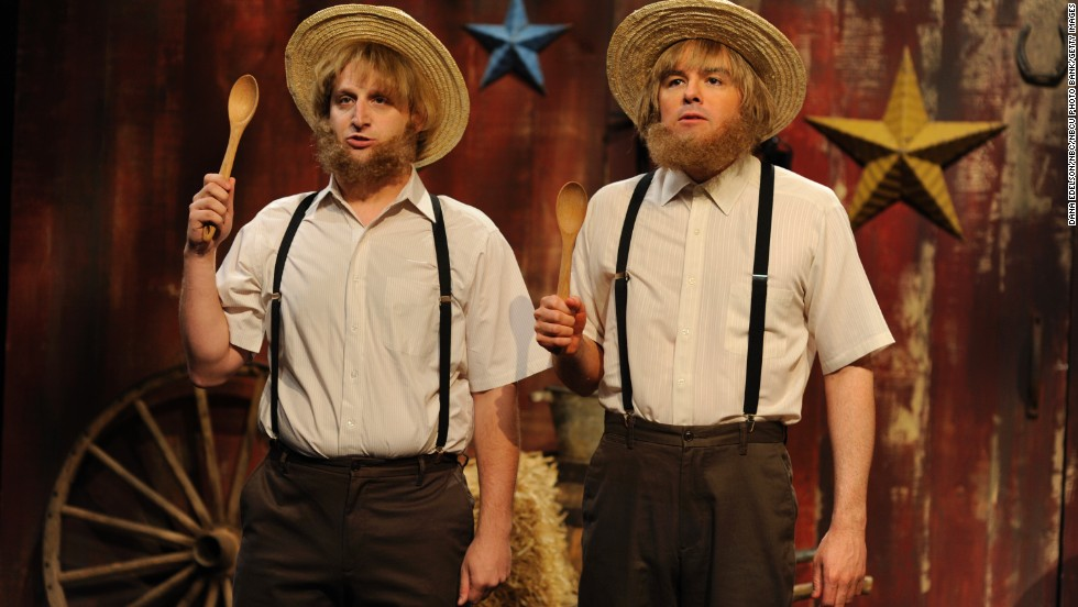"""Tim Robinson and MacFarlane in a skit when the latter hosted """"Saturday Night Live"""" in September 2012."""