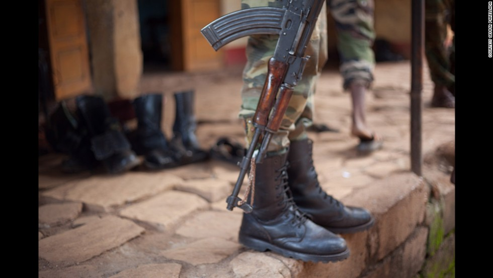 A member of the Republican Forces is seen in Bambari. The militia decided to set up its headquarters in Bambari after a major congress in N'Dele, a town in the north. Its leaders wanted to reorganize and get rid of uncontrolled elements in order to facilitate political dialogue. This was when they also decided to adopt their new name.