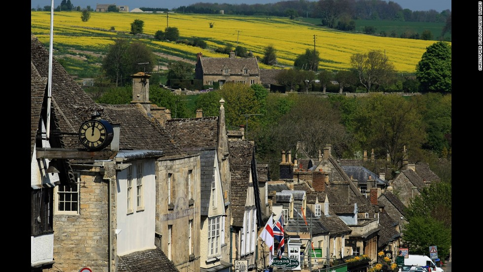 """Downton Abbey's"" success has brought more attention to the romantic English countryside, just one reason Southwest England came in third place on this list. The green hills, winding roads and sleepy villages of the Cotswolds (the town of Burford is shown here) are quintessentially ""English."" Afternoon tea and country walks are traditions that add to the relaxing atmosphere, and sites such as the Roman Baths and the Jane Austen Centre in Bath allow visitors to step back in time."